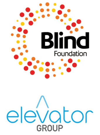 Blind Foundation and Elevator logos